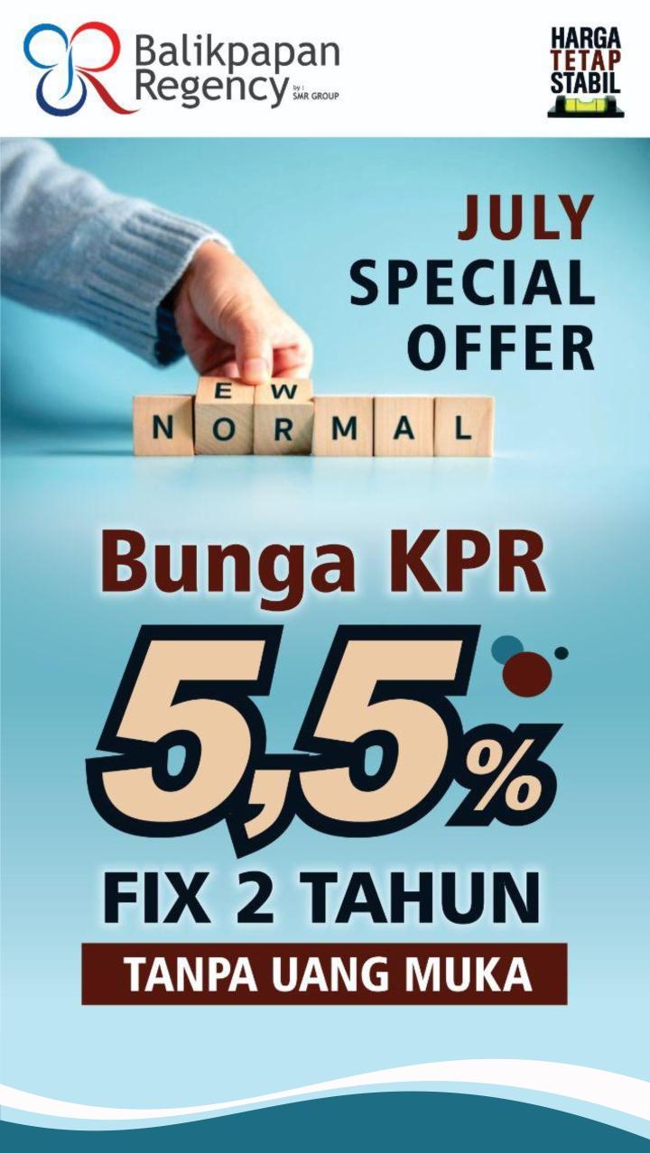 KPR 5,5% Fix 2 tahun