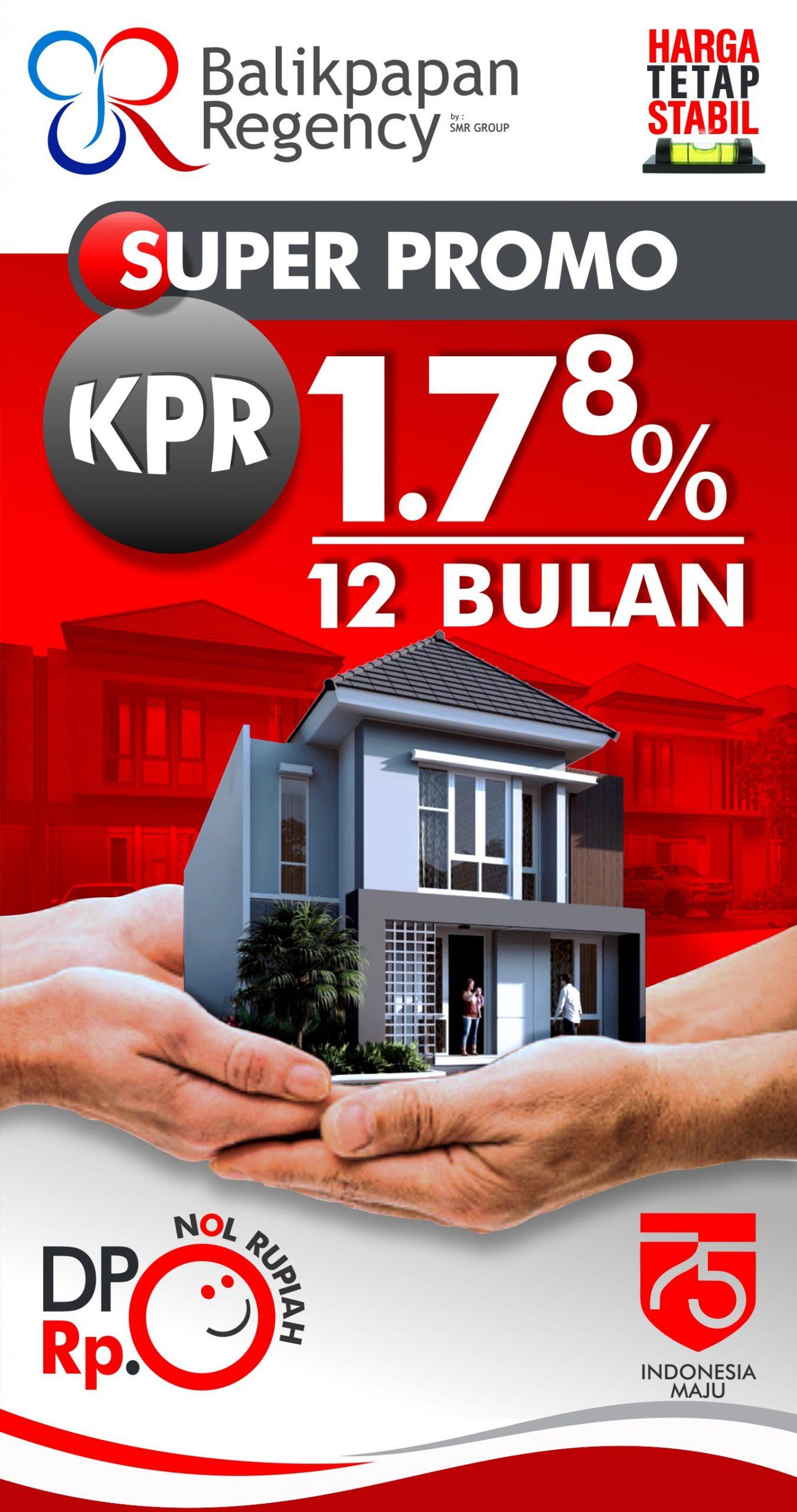 Bunga KPR 1,78% fix 12 bulan