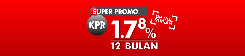 Bunga KPR 1,78% selama 12 Bulan